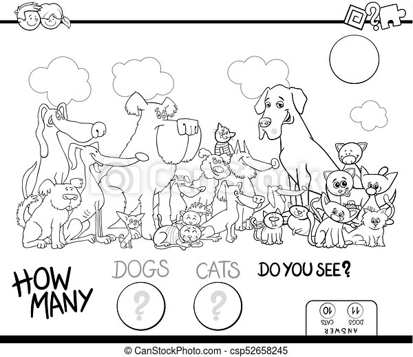 色, 犬, ゲーム, ネコ, 数える, 本 - csp52658245