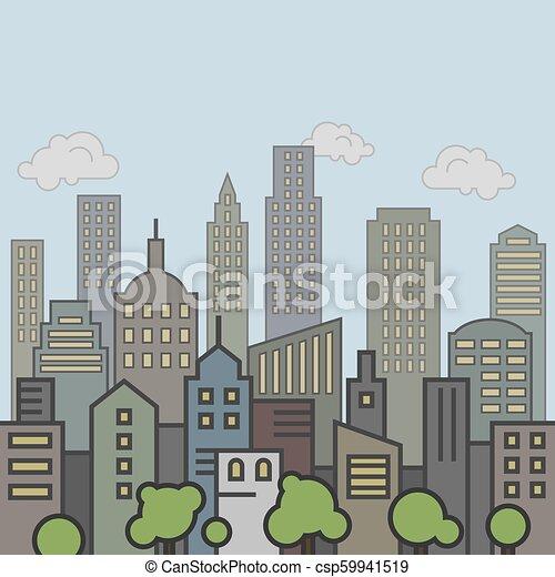 色, 都市, 風景 - csp59941519