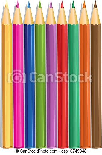色, 鉛筆, ベクトル - csp10749348