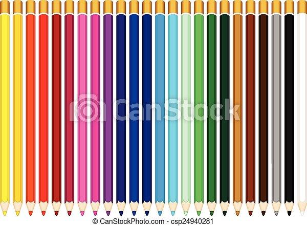 色, 鉛筆 - csp24940281