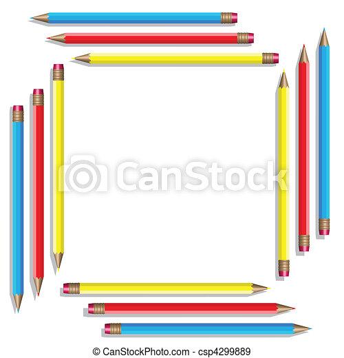 色, 16, pencils., ベクトル - csp4299889