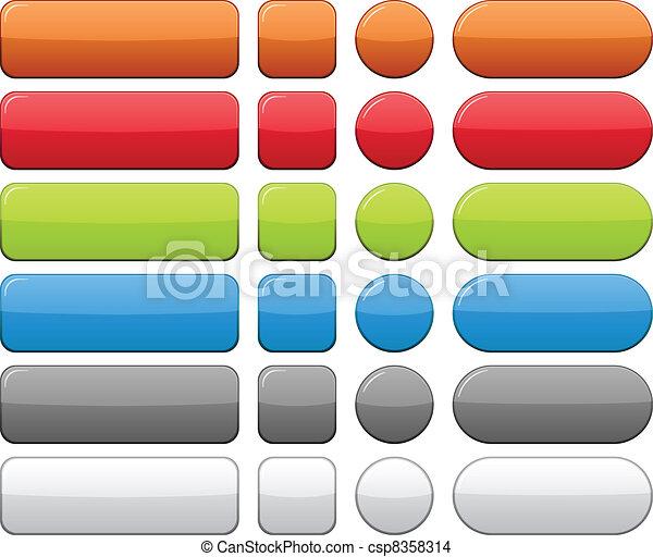 色, buttons., ブランク - csp8358314