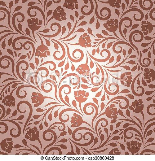 花のパターン, ベクトル, seamless - csp30860428
