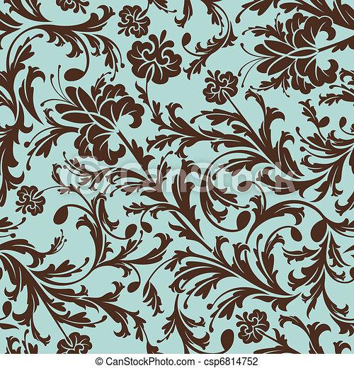 花のパターン, seamless - csp6814752