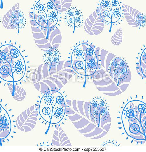 花のパターン, seamless - csp7555527