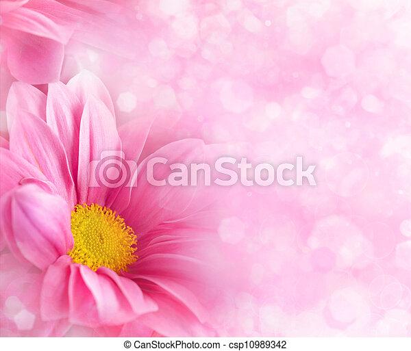 花の意匠, 抽象的, 背景, あなたの - csp10989342