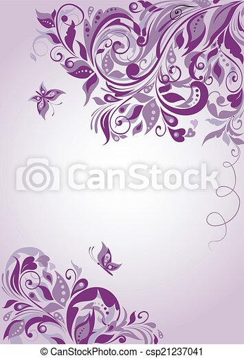 花の旗, すみれ - csp21237041