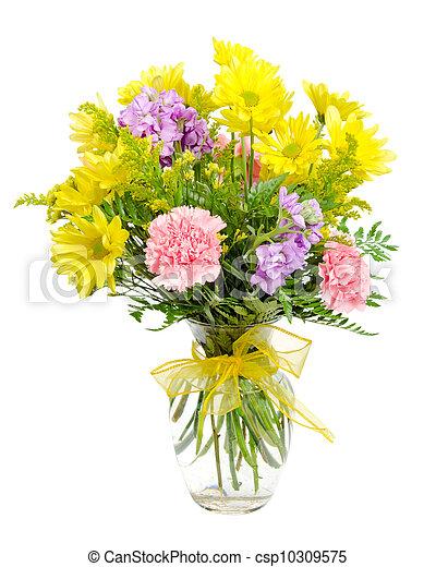 花の 整理, カラフルである, 花束 - csp10309575