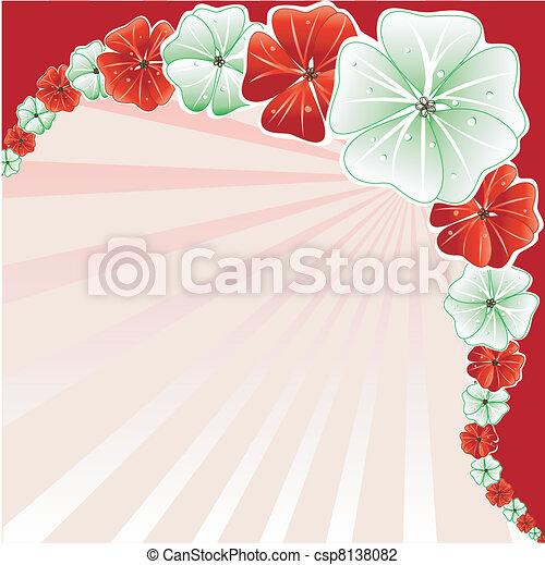 花の3, クリスマス, 背景 - csp8138082