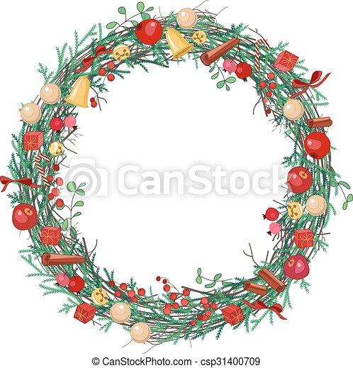 花冠, 輪, 聖誕節 - csp31400709