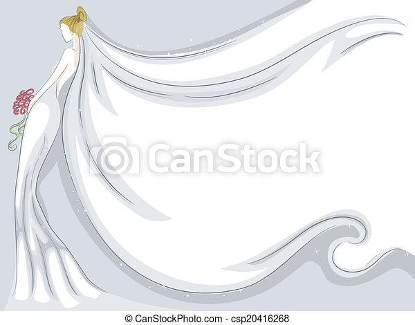 花嫁のベール 背景 ベール イラスト 背景 役割を果たす なびくこと