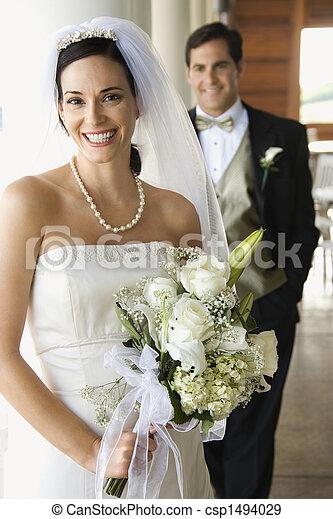 花嫁, 手入れをしなさい。, 肖像画 - csp1494029