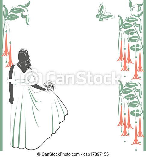 花嫁, 結婚式の招待 - csp17397155