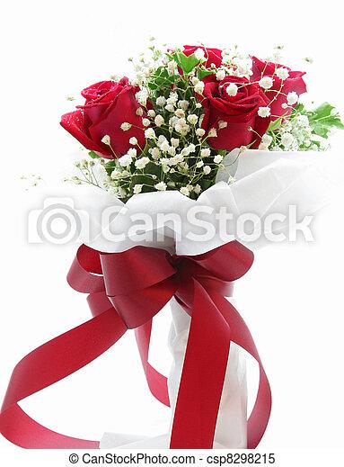 花束, バラ - csp8298215