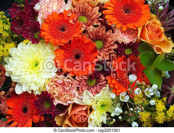 花束, 新鮮な花, カラフルである - csp3201061