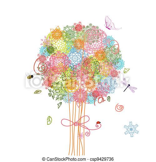 花束, 木, 休日, アラベスク - csp9429736