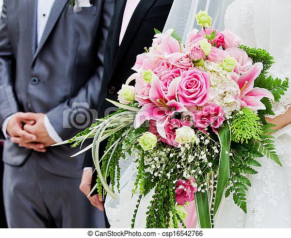 花束, 結婚式 - csp16542766