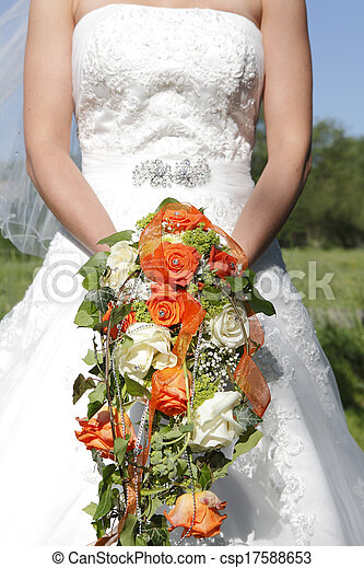 花束, 結婚式 - csp17588653