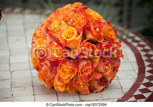 花束, bridal, 結婚式 - csp18372594