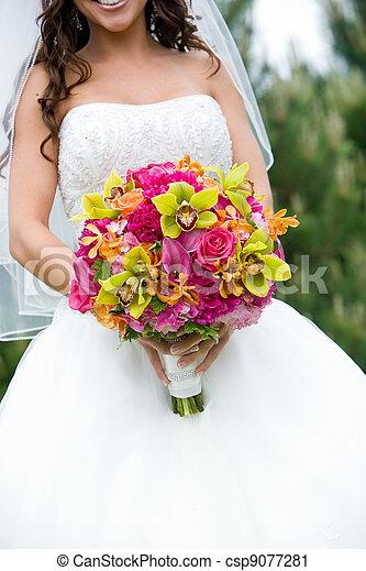 花束, bridal, 結婚式 - csp9077281