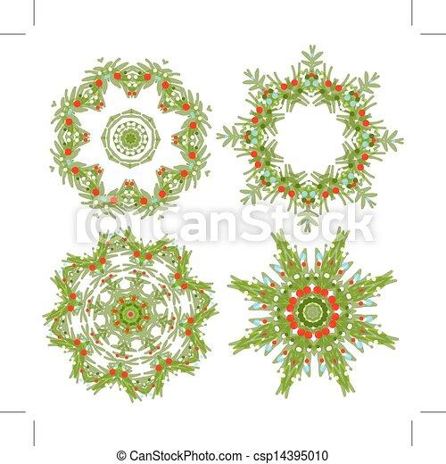 花輪, デザインを設定しなさい, あなたの, クリスマス - csp14395010
