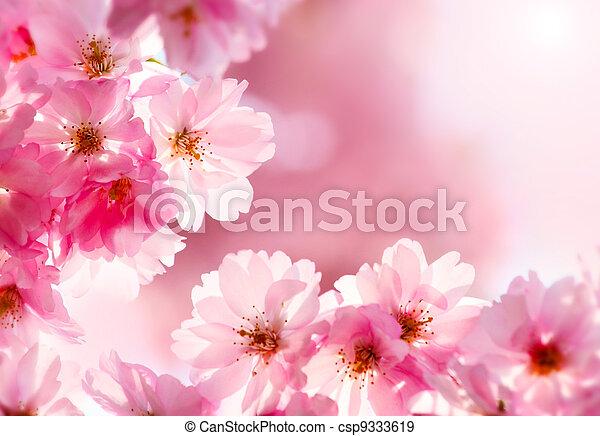 花, さくらんぼ - csp9333619