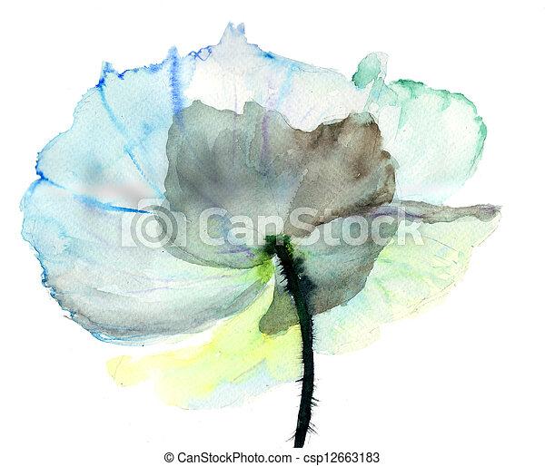 花, イラスト, 定型 - csp12663183