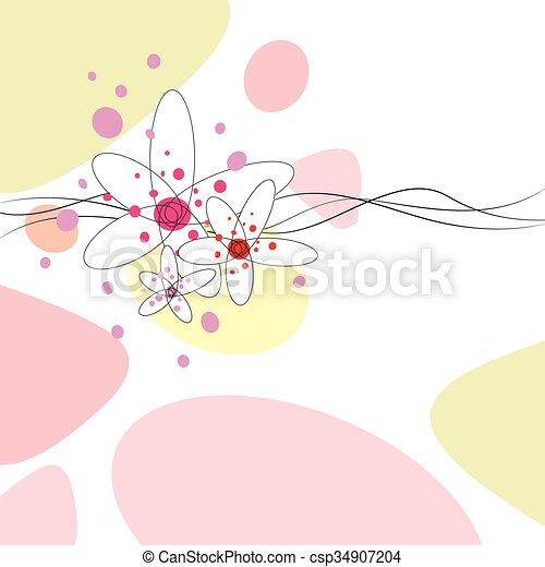 花 イラスト 背景 花 かわいい 抽象的 背景 イラスト