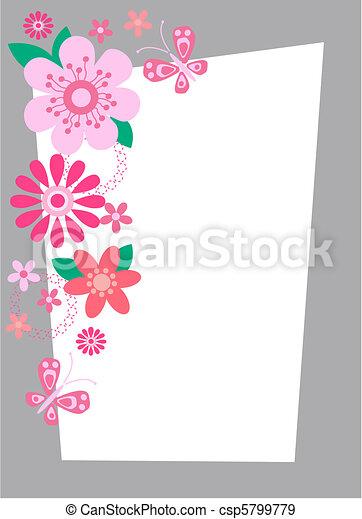 花, カード - csp5799779