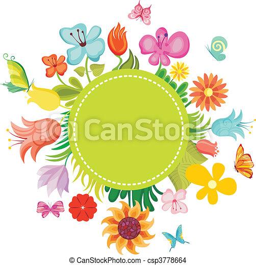 花, カード - csp3778664