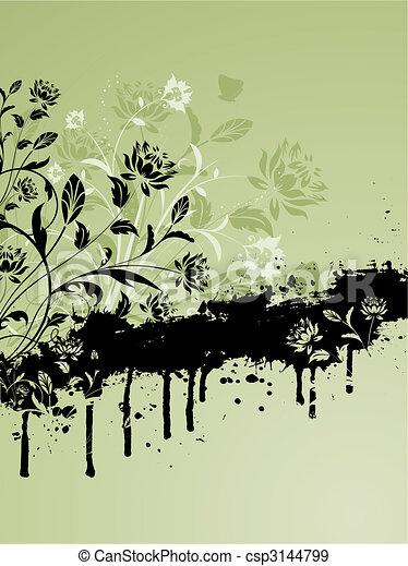 花, グランジ - csp3144799