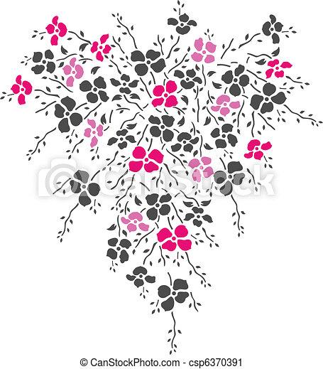 花, デザイン - csp6370391