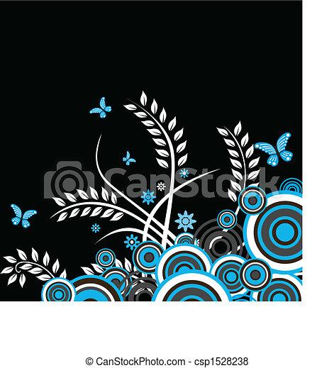 花, ベクトル, 背景 - csp1528238
