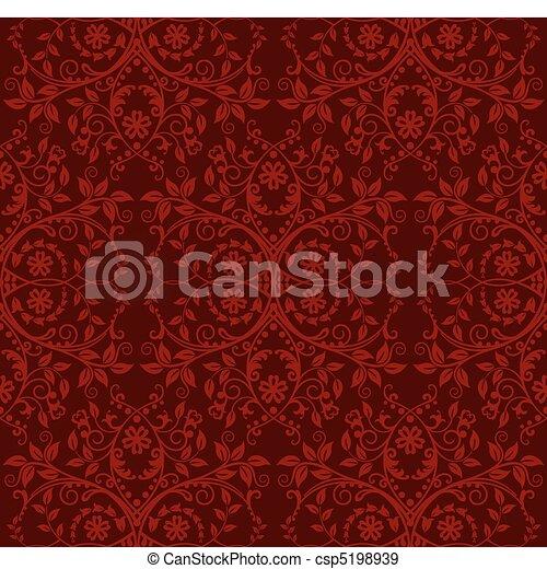 花, 壁紙, seamless, 赤 - csp5198939