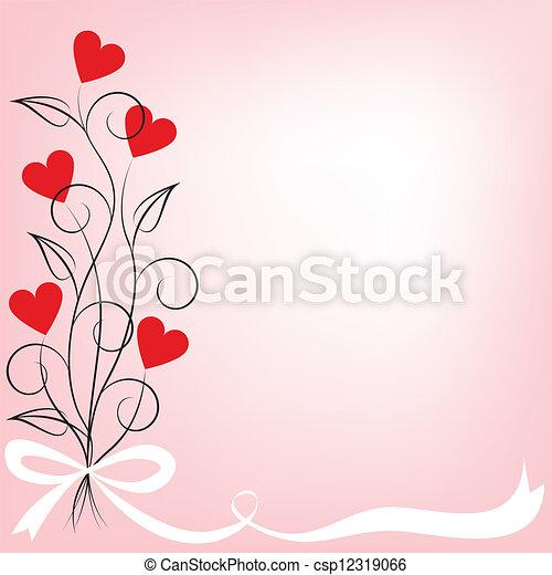 花, 心, 花束, 形づくられた - csp12319066