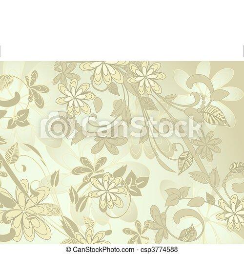 花, 抽象的なデザイン, 蝶 - csp3774588