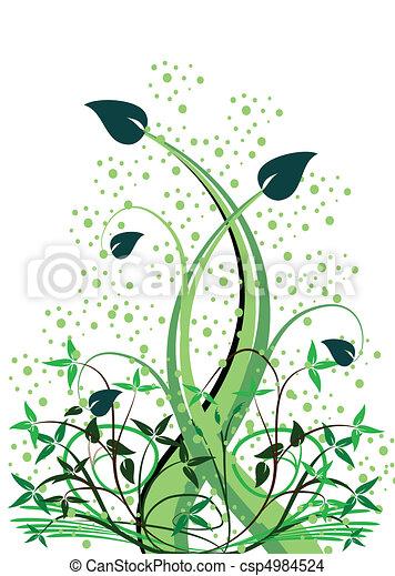 花, 抽象的, ベクトル, ilustration - csp4984524