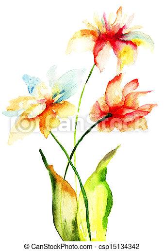 花, 春 - csp15134342