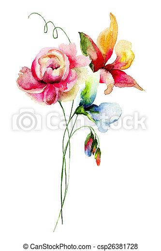 花, 春 - csp26381728