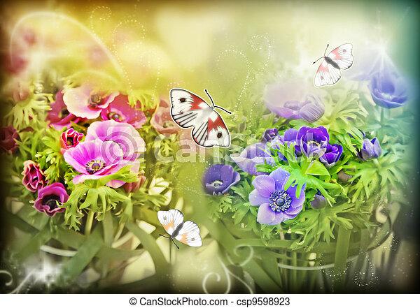 花, 春 - csp9598923