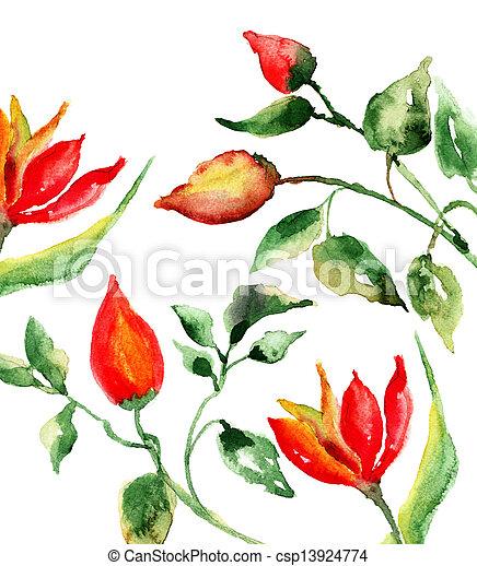 花, 春 - csp13924774