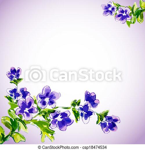 花, 春, 招待, テンプレート - csp18474534