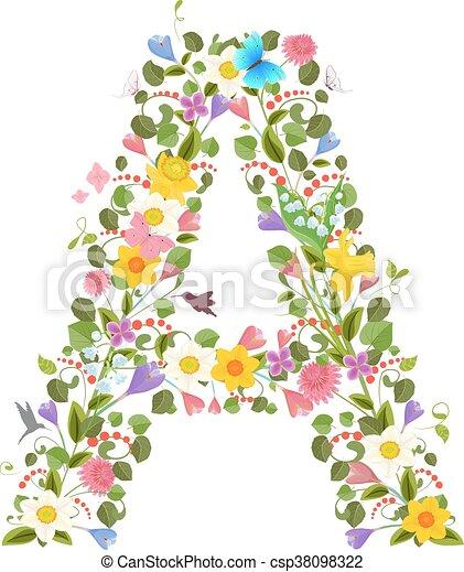 花, 春, 華やか, 手紙, 資本, 壷, consisting - csp38098322