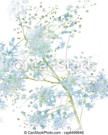 花, 白い花 - csp6499646