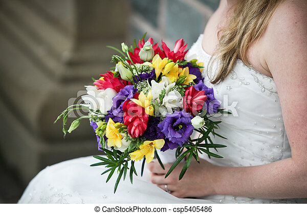 花, 結婚式 - csp5405486