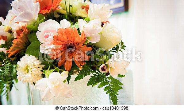 花, 結婚式 - csp10401398