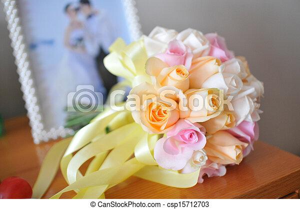 花, 結婚式 - csp15712703