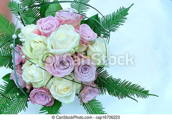 花, 背景, 結婚式 - csp16706223