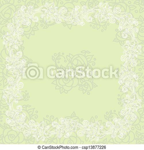 花, 華やか, カード, 招待 - csp13877226