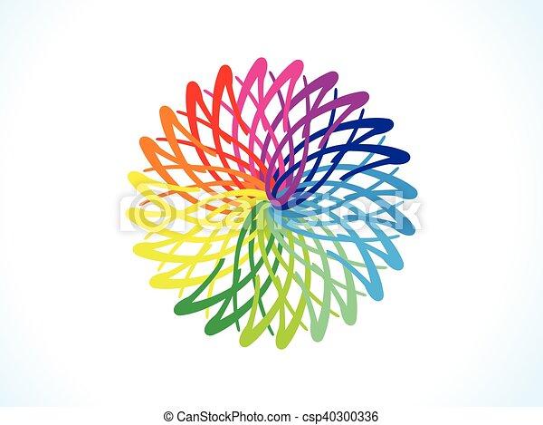 花 虹 抽象的 円 芸術的 虹 抽象的 イラスト ベクトル 芸術的